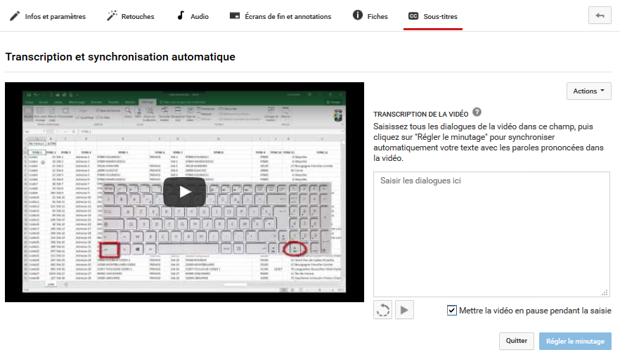 Youtube_transcription_synchronisation